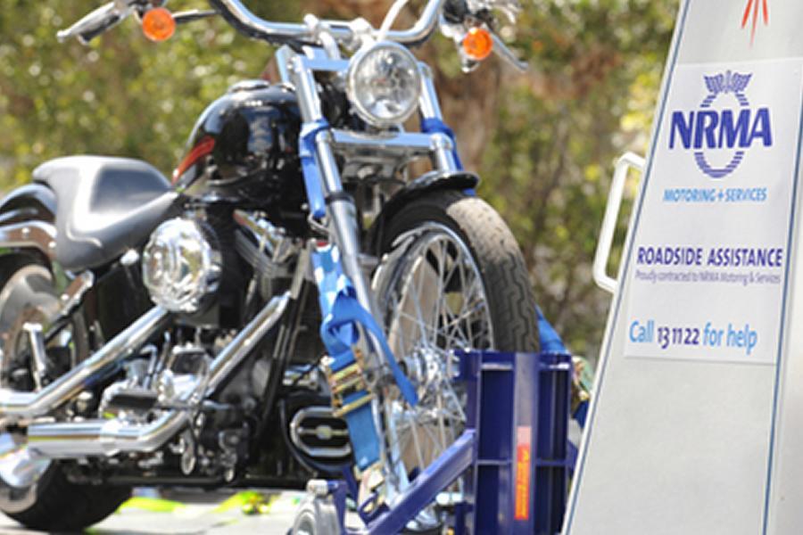 motorBike On Cradle NRMA