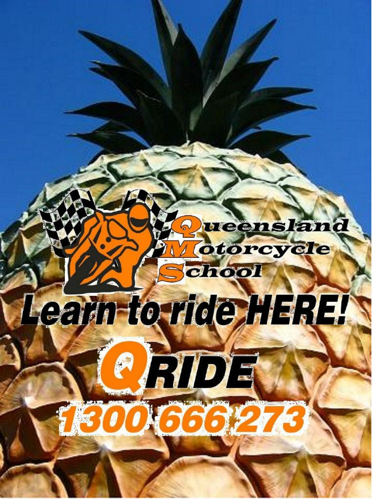 Qride motorcycle lessons Sunshine Coast Big Pineapple
